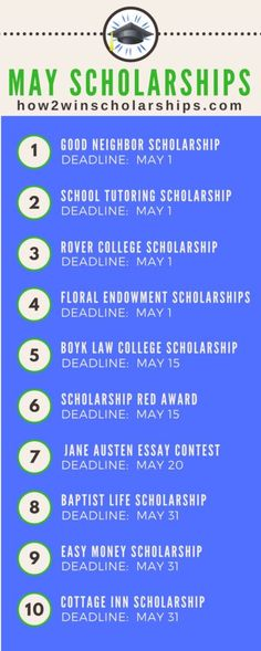 College Scholarships With May Deadlines - ADD these to your list! # study plan for scholarship College Scholarships With May Deadlines - ADD these to your list! Grants For College, Financial Aid For College, College Planning, Online College, Scholarships For College, Education College, College Students, College Counseling, Education Degree