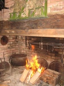 Barnabas's 17th century kitchen from A Place In His Heart by Rebecca DeMarino  #aplaceinhisheart #southoldchronicles
