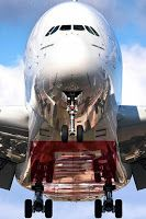 Face to Face with an Emirates 380 Airbus arriving in Toronto ~by Kavin Kowsari Airbus A380, Jet Privé, Emirates Airline, Emirates A380, Ville Rose, Civil Aviation, Aviation Art, Commercial Aircraft, Jet Plane