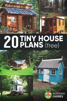 Free Woodworking Plans 20 Free DIY Tiny House Plans to Help You Live the Tiny - Living in a sqft house can be more meaningful than in a big one. Here are 20 free DIY tiny house plans to help you build one by yourself. Tyni House, Tiny House Cabin, Tiny House Living, Tiny House Design, Living In A Shed, Small Living, Shed To Tiny House, Cottage House, House Floor