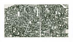 Art / Kunst, Print, Printmaking Grafik, Druckgrafik, Artist/Künstler: Bogdan Hoffmann, Title/Titel: New York IV, Technique/Technik: Dry point engraving / Kaltnadelradierung, Price/Preis: 360,- €