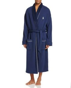 Polo Ralph Lauren Fleece Lined Shawl Collar Robe | Bloomingdale's
