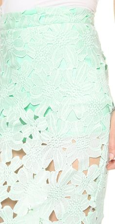 Gorgeous lace midi skirt in #mint - only $58! http://rstyle.me/n/izn9vnyg6
