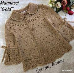 Baby Sweater Knitting Pattern, Sweater Knitting Patterns, Dress Sewing Patterns, Baby Knitting, Baby Cardigan, Crochet Cardigan, Knit Crochet, Needlepoint Designs, Crochet Baby Clothes