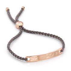 Rose Gold Vermeil Havana Friendship Bracelet - Mink