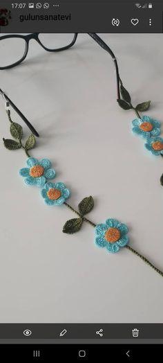 Crochet Garland, Crochet Necklace, Jewelry, Bracelets, Ear Rings, Ribbon Hair Ties, Diy Kid Jewelry, Necklaces, Thread Crochet