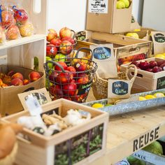Le Silo épicerie bio vrac Fresh Store, Restaurant Design, Reuse, Coffee Shop, Marketing, Marcel, Zero Waste, Display, Fruits And Vegetables