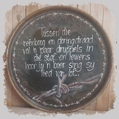 Afrikaanse Quotes, Handmade Books, The Dreamers, Decoupage, Inspirational Quotes, Country, Garden, Crafts, Art