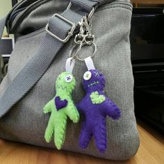 Voodoo Doll Purse Charm by WennsWeirdCreations on Etsy