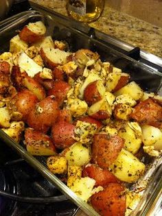 Niki Cooks for Interstitial Cystitis: Roasted Potatoes  Chicken