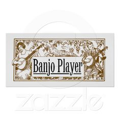 Banjo Player Poster from Zazzle.com