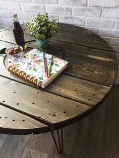 "Rustic Industrial Table–Using ""Faux Stain"" Chalk Paint Technique"