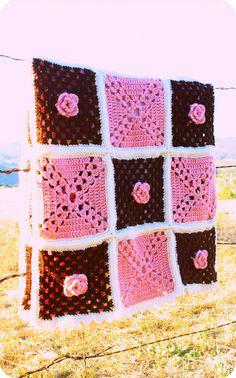 Quilt Style Crochet Throw. $299.00, via Etsy.