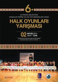 6. Kadınlar Eğitim ve Kültür Merkezleri Halk Oyunları Yarışması, 2 Nisan'da Cemil Meriç Kültür Merkezi'nde