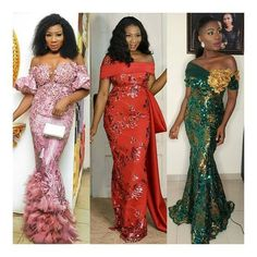 2019 Inspiring Asoebi Gown Styles Source by naloaded Lace Gown Styles, Aso Ebi Lace Styles, African Lace Styles, Latest Aso Ebi Styles, African Lace Dresses, African Wedding Dress, Lace Evening Dresses, African Fashion Dresses, African Attire