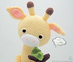Amigurumi Giraffe Alpha Step by Step Crochet Crochet Teddy, Crochet Yarn, Crochet Hooks, Free Crochet, Crochet Toys Patterns, Amigurumi Patterns, Stuffed Toys Patterns, Step By Step Crochet, Crochet Animals