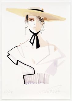 David Downton - My Theresa - Fashion Illustration Gallery Fashion Design Portfolio, Fashion Design Drawings, Fashion Sketches, Dress Sketches, Drawing Fashion, Fashion Illustration Face, Illustration Mode, Fashion Illustrations, Design Illustrations
