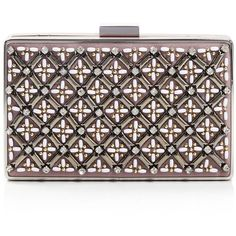 Jessica McClintock Lattice Bead Minaudiere - Compare at $115 ($40) ❤ liked on Polyvore featuring bags, handbags, clutches, blush, minaudiere purse, beaded handbag, beaded clutches, brown handbags and jessica mcclintock clutches