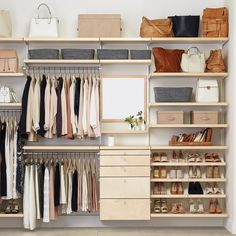 Getting dressed just got more fun! Design a custom closet solution based on your budget and your space.