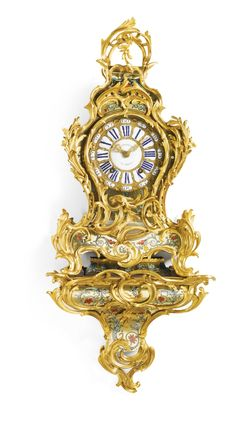 c1760 A Louis XV ormolu-mounted turtleshell contra-boulle bracket clock, Michel, Dijon, circa 1760 Estimate       6,000 — 8,000  GBP 9,593 - 12,791USD. unsold
