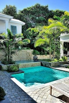 Here are the Small Pool Design Ideas For Backyard. This article about Small Pool Design Ideas For Backyard was posted under the Exterior Design category by our team at February 2019 at pm. Hope you enjoy it and . Small Inground Pool, Building A Swimming Pool, Swimming Pool Landscaping, Small Swimming Pools, Small Backyard Pools, Small Pools, Swimming Pool Designs, Backyard Landscaping, Landscaping Ideas