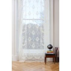 Skye Natural White Lace Panel, proudly woven in the UK