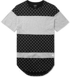 Black/Grey The Gridded Panel T-Shirt