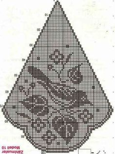 This scheme is only one part of the tablecloth. This scheme is only one part of the tablecloth. Annie's Crochet, Crochet Doily Diagram, Crochet Dollies, Filet Crochet Charts, Fillet Crochet, Crochet Birds, Crochet Doily Patterns, Crochet Cross, Knitting Charts