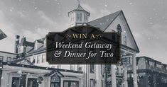 Sign up for a chance to Win a 2-night stay at the historic Thayers Inn and dinner at Grille One Eleven.http://thayersinn.com/win-a-weekend-getaway-and-dinner-for-two/ #NH #contest #win