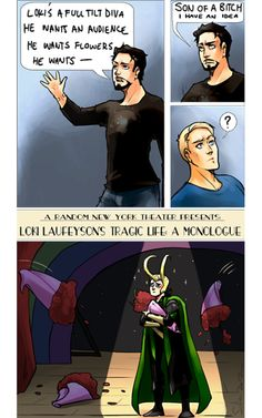 Tony figures out how to stop Loki. I would watch that show.