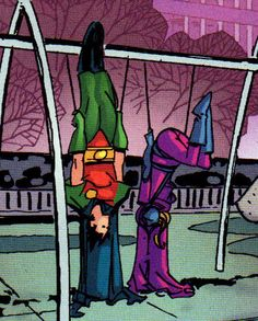 Tim Drake and Stephanie Brown. Robin and Spoiler. <3