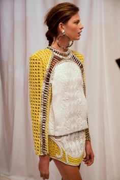 #BetteFranke #backstage @ Balmain SS13 - You love african prints? You must take a look here: cewax.fr