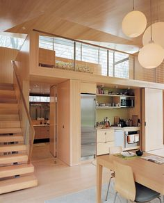 2 of 10 in Striking Angular Cottage in Connecticut 2 of 10 in Striking Angular Cottage in Connecticut amazing tiny house design that make you amazed 48 Chilling Japanese style interior Designs 78 modern home decor trends to copy in year 2019 35 Home Interior Design, Interior Architecture, Sustainable Architecture, Decor Home Living Room, Home Decor, Accordion Doors, Hidden Kitchen, Kitchen Small, Space Kitchen