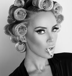 Model, kaki west, smoking, sexy, girl in curlers, girl smoking, sexy smoking, model, model in curlers smoking, bad ass women, tough love, strong,