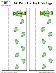 St. Patrick's Day Leprechaun Nameplates {free printable}