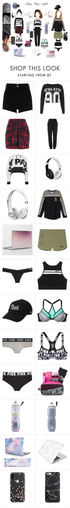 """Lazy day"" by katland09 ❤ liked on Polyvore featuring River Island, Lorna Jane, Topshop, Ivy Park, Beats by Dr. Dre, Victoria's Secret, Victoria's Secret PINK, Recover, Kate Spade and Fifth & Ninth"