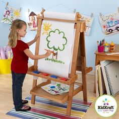 Deluxe Wooden Easel Honey