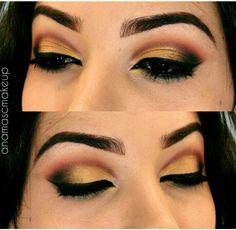 Makeup dourada final de ano festas 2015
