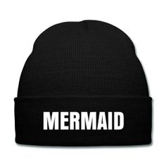 Mermaid Beanie - Available Here: http://sondersky.spreadshirt.com.au/mermaid-A18464252