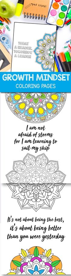 Growth Mindset Coloring Pages Mandala coronavirus packet School Resources, Teacher Resources, Teaching Ideas, Classroom Resources, Love Coloring Pages, Colouring, Growth Mindset Activities, Lessons For Kids, Art Lessons