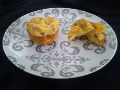 Mini quiche  Im not one to measure exactly but I used 9 eggs and 8 sausage links, diced . 2 big handfuls of mozzarella cheese, a healthy dose of garlic salt and a nice big splash of milk. Bake 375 20/25min until golden brown.  It made 16 helpings.  My husband and 1 year old loved it.  Im planning on freezing a bunch individually for quick toddler breakfast.