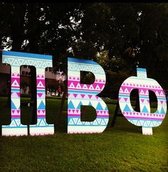 tribal letters-- these are at the U of A.. cutie let's do this next year!!
