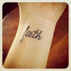 Faith tattoo - did it!