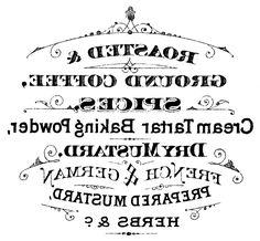 Printable Image Transfer - French Grain Sack - Wheat - The Graphics Fairy Pub Vintage, Vintage Tags, Vintage Labels, Vintage Coffee Signs, Printable Vintage, Vintage Black, French Typography, Vintage Typography, Coffee Typography