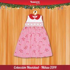 Vestido para niñas de 0 a 8 años. Síguenos en nuestras redes sociales para más información: https://www.facebook.com/AlmacenesTravesuras y https://twitter.com/travesuras_col