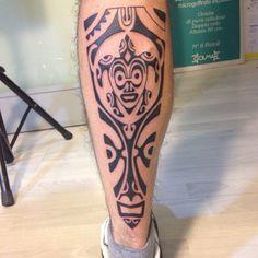 Amazing Polynesian Leg Tattoo for Men | Cool Tattoo Designs