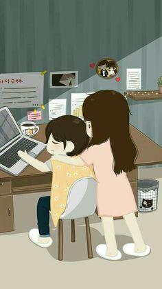 sketches of love Love Cartoon Couple, Chibi Couple, Cute Cartoon Pictures, Cute Couple Art, Anime Love Couple, Cute Anime Couples, Cute Love Wallpapers, Cute Couple Wallpaper, Cute Cartoon Wallpapers