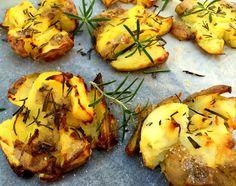 Sprøde, knuste kartofler med rosmarin…