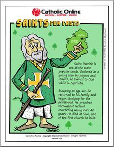 Saints Fun Facts - St. Patrick by Catholic Shopping .com | Catholic Shopping .com FREE Digital Download PDF