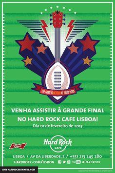 FINAL DO FUTEBOL AMERICANO NO HARD ROCK CAFE LISBOA